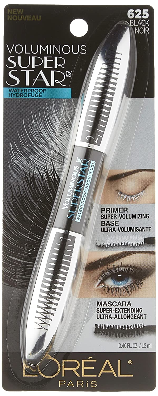 b7c9072eb4c Amazon.com : L'Oréal Paris Voluminous Superstar Waterproof Mascara, Black,  0.4 fl. oz. : Beauty