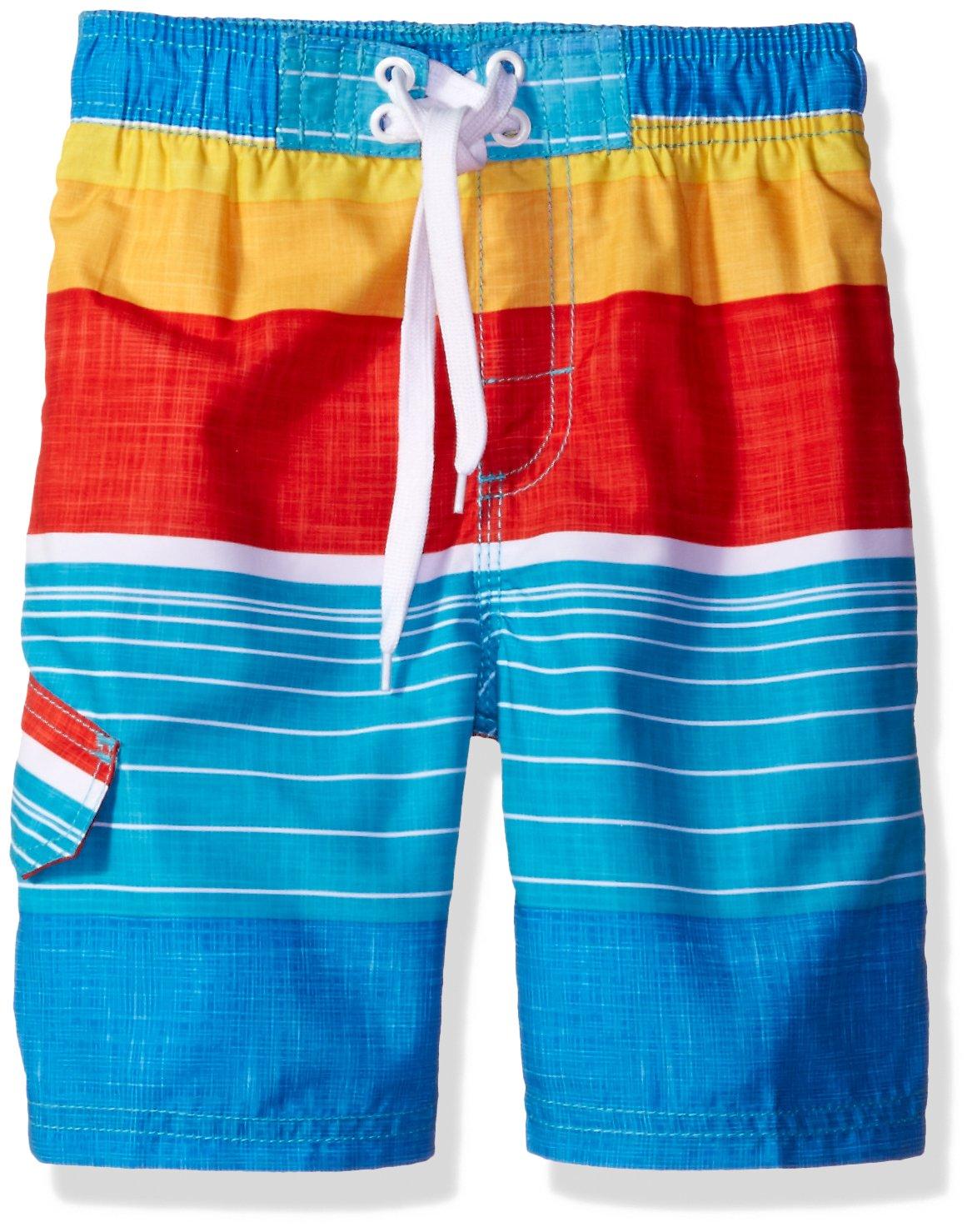 Kanu Surf Big Boys' Viper Stripe Swim Trunk, Aqua, X-Large (18/20)