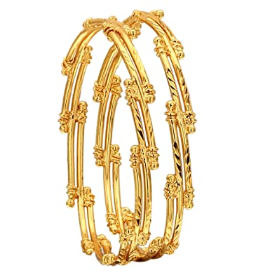 82593ac0a7310 Sasitrends 1 Gram Gold Plated Bangles for Women