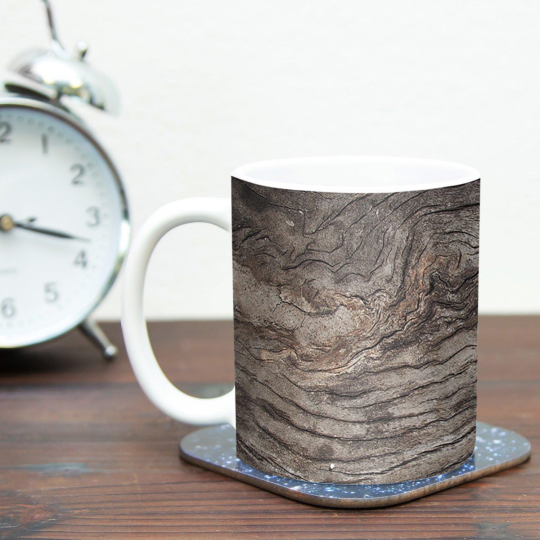 Multicolor 11 oz Kess InHouse Susan SandersTree Bark Brown Wooden Ceramic Coffee Mug