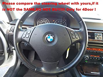 Hand Sewing Black Suede Genuine Leather Steering Wheel Cover: Amazon