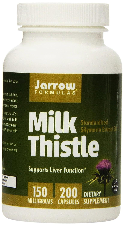 Jarrow Formulas Milk Thistle, Promotes Liver Health, 150 mg Caps, 200 Veggie Capsules Pack of 2