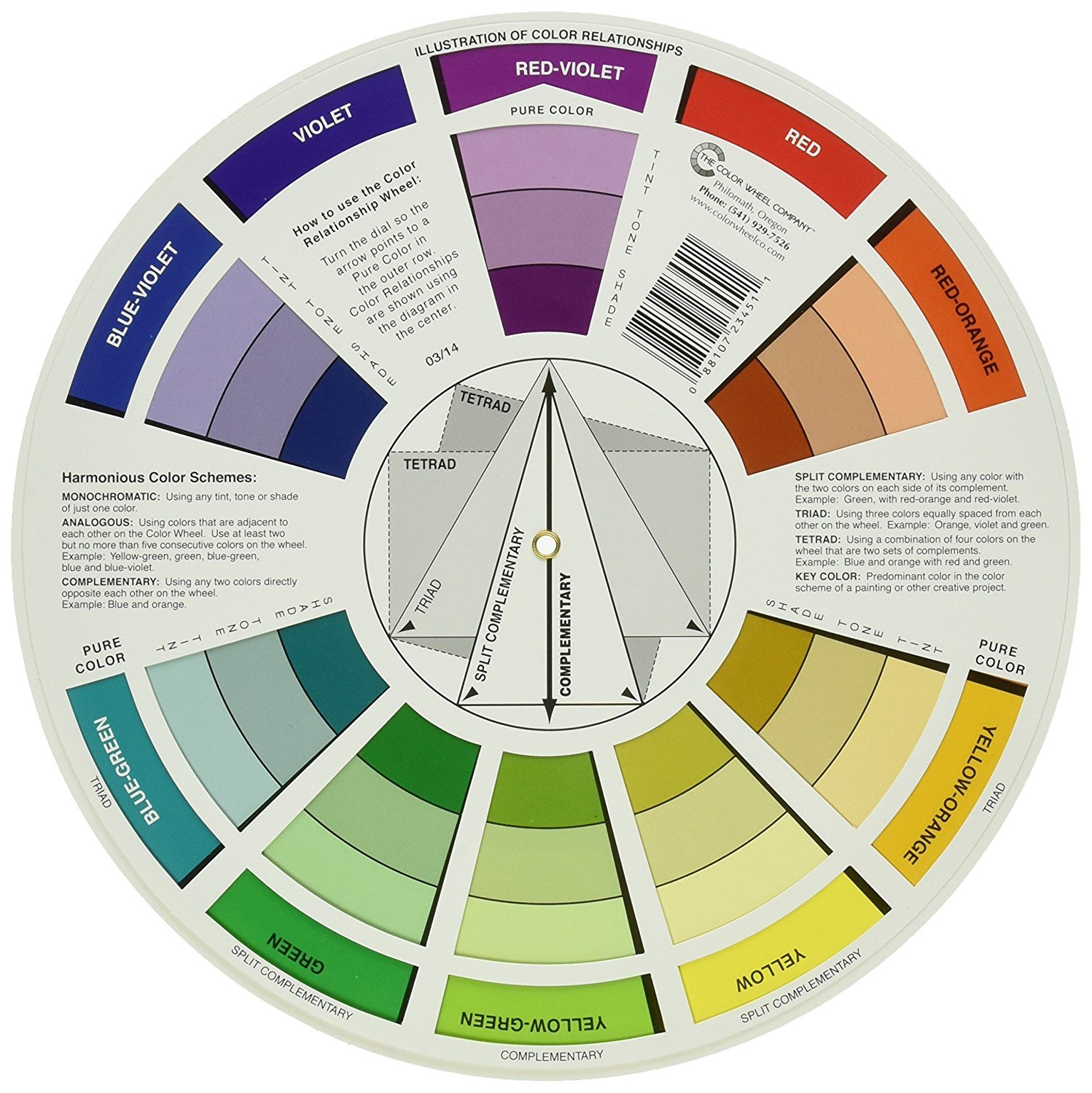 Amazon Com Cox 133343 Color Wheel 9 1 4 Arts Crafts Sewing