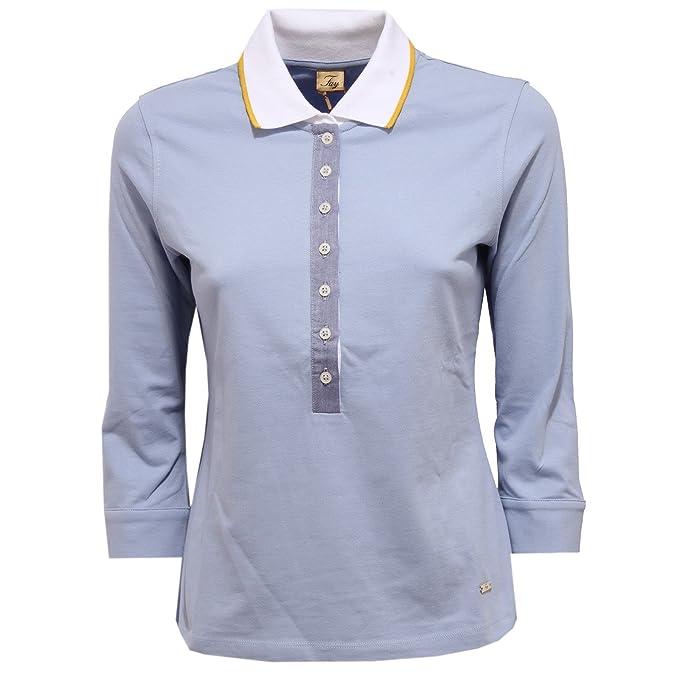 quality design 28b4f 15997 Fay 9220V maglia donna polo light blue polo t-shirt woman [M ...