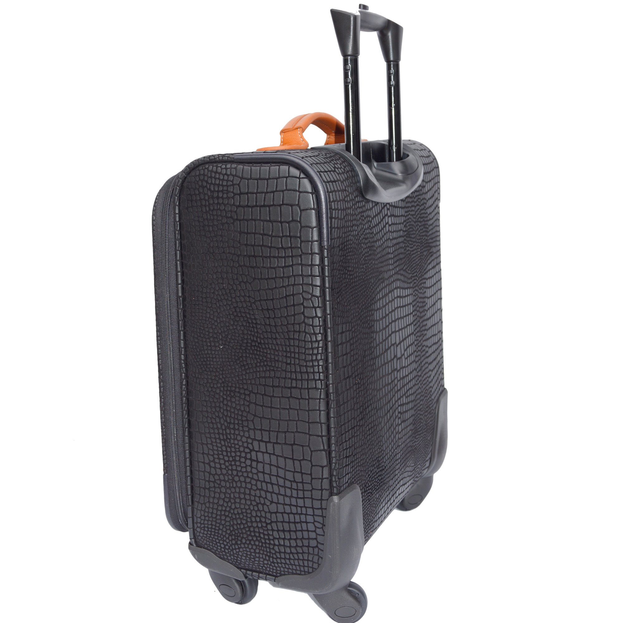 Bric's Luggage Mylife Super-Light 25 Inch Spinner (One Size, Black/Cognac)