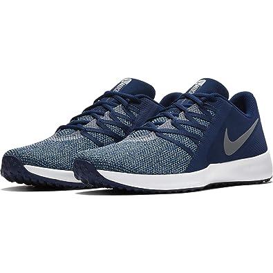 buy online 98524 c3871 Amazon.com   Nike Men s Varsity Compete Trainer Shoe, Blue Void Cool Grey,  8   Fitness   Cross-Training
