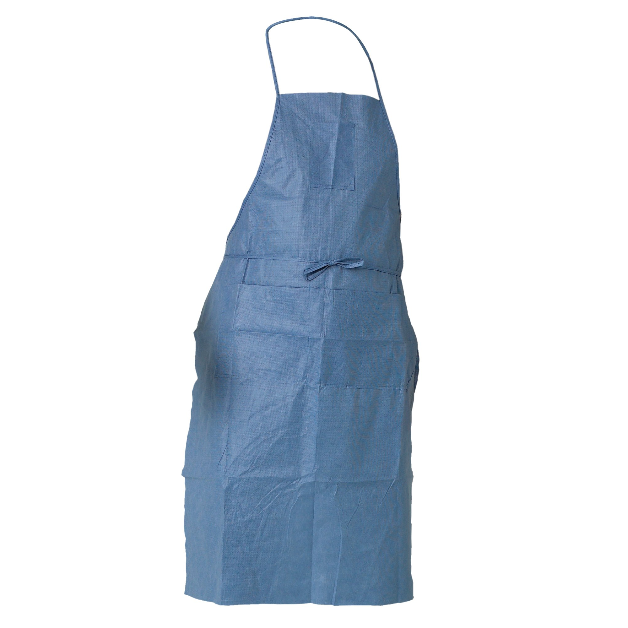 Kleenguard A20 Breathable Particle Protection Apron (36260), Universal Size (One Size), Tie Back, Blue Denim with Pockets, 100 / Case, 10 Bags of 10 Aprons