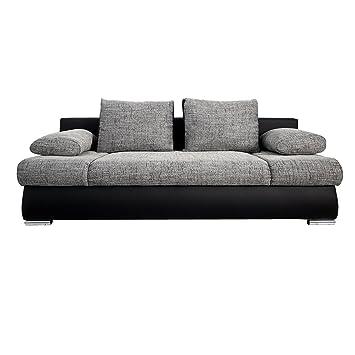 Design Schlafsofas stylisches design schlafsofa orlando grau schwarz strukturstoff