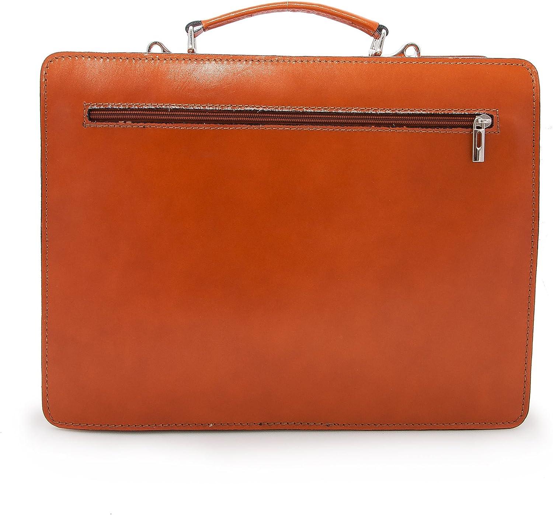 Zerimar Aktentasche Leder Massnahmen: 40x10x30 cm Satchel Bag Umh/ängetasche Leder Vintage Aktentasche Messenger Bag Leder Messenger Bag