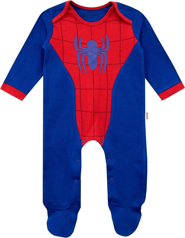 Marvel Conjunto Pijama Entera con Gorro para Ni/ños Beb/és El Hombre Ara/ña