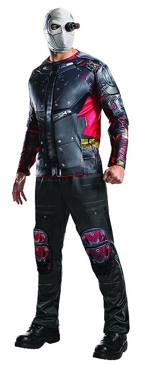 Disfraz oficial para adultos del Escuadrón Suicida de Deadshot de Rubie s  ... 4735b0fad1bc