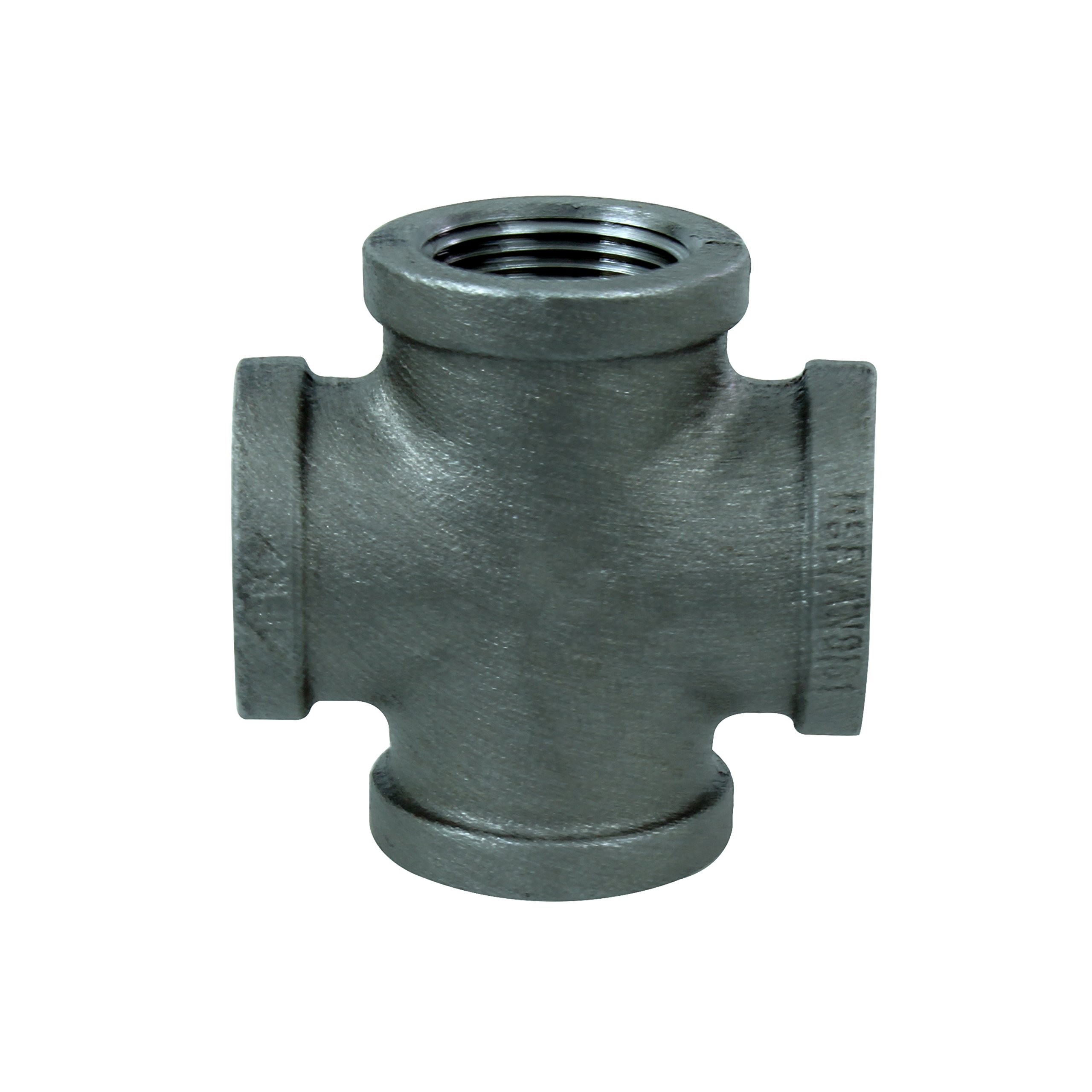 Everflow Supplies BMCR0200 Black Malleable Cross Fitting, 2""