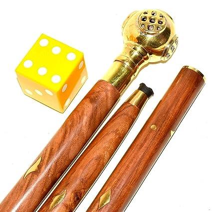 Vintage Nautical Dice Designer Walking Stick Cane Handle Gift item 36 Inch Long