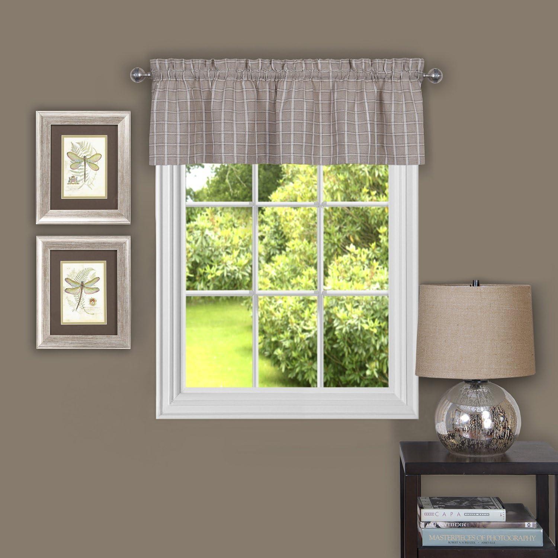 "Achim Home Furnishings Sydney Window Curtain Valance, 58"" x 14"", Linen"