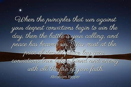 Amazoncom Abraham Kuyper Famous Quotes Laminated Poster Print