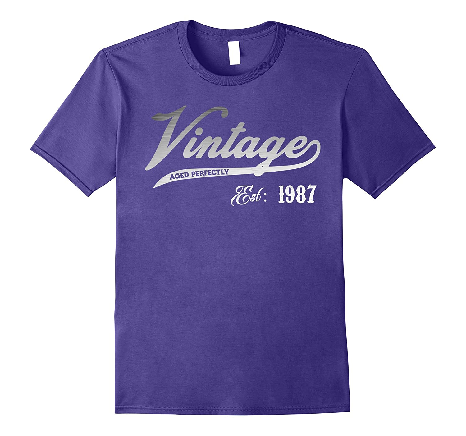 Vintage Est 1987 T-shirt 30 yrs old B-day 30th Birthday Gift-T-Shirt