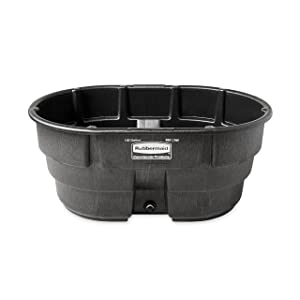 Rubbermaid Commercial Products FG424500BLA Stock Tank, Structural Foam, 150 gal, Black