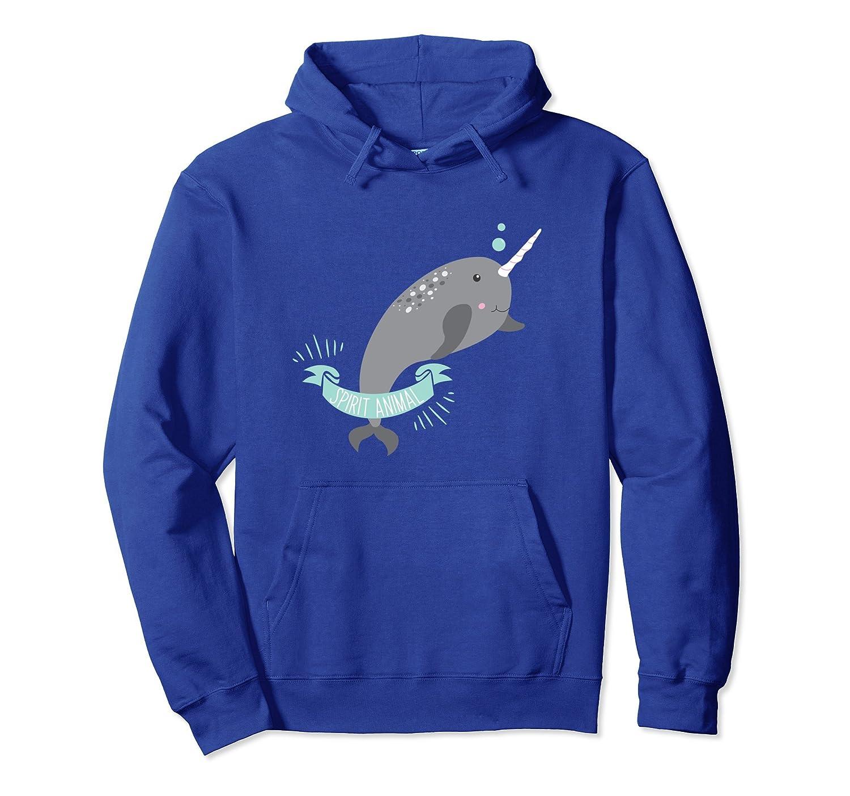 Narwhal Hoodie Sea Unicorn Legendary Stabby Spirit Animal-Awarplus
