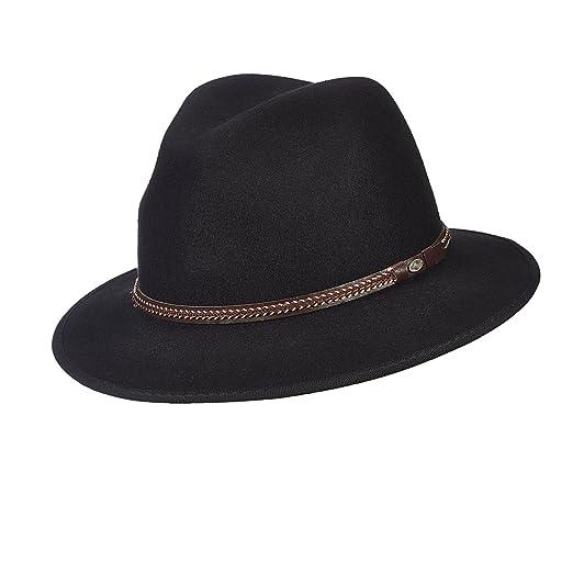 SCALA Classico Men s Crushable Water Repellent Wool Felt Safari Hat ... c2366414a8a0