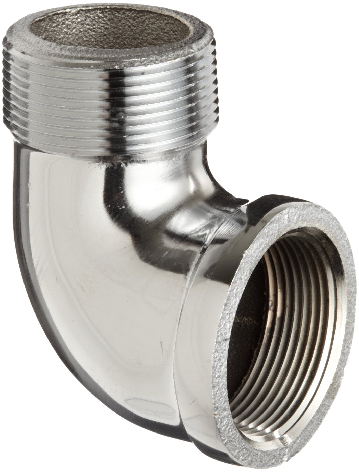 Chrome Plated Brass Pipe Fitting, 90 Degree Street Elbow, 3/8'' NPT Male x Female