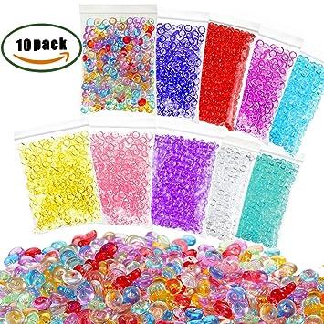 ManYee 10 Pack Perlas de Pecera para Slime,plástico pecera Slime perlas para la fabricación de baba Arte de bricolaje: Amazon.es: Hogar