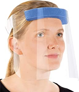 R20 Protective Face Shields with Clear Vision, Comfort Sponge For Eye Protection. Made in The USA (2 Pack)