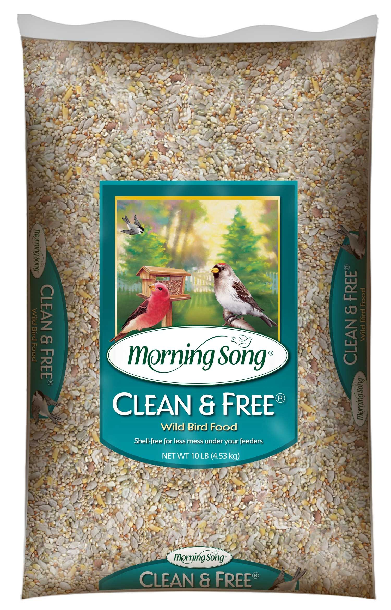 Morning Song 11959 Clean and Free Wild Bird Food, 10-Pound by Morning Song