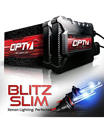 amazon com hid kits lighting conversion kits automotive opt7 blitz slim 9006 hid kit 3 5x brighter 4x longer life all