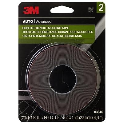 3M Super Strength Molding Tape, 03616, 7/8 in x 15 ft: Garden & Outdoor