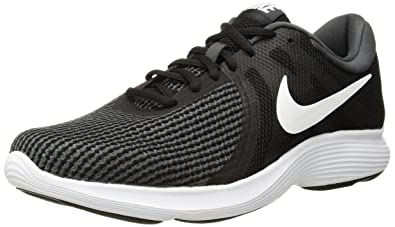edac87f25af6 Nike Women s Revolution 4 Running Shoe Black White-Anthracite 5 Regular US