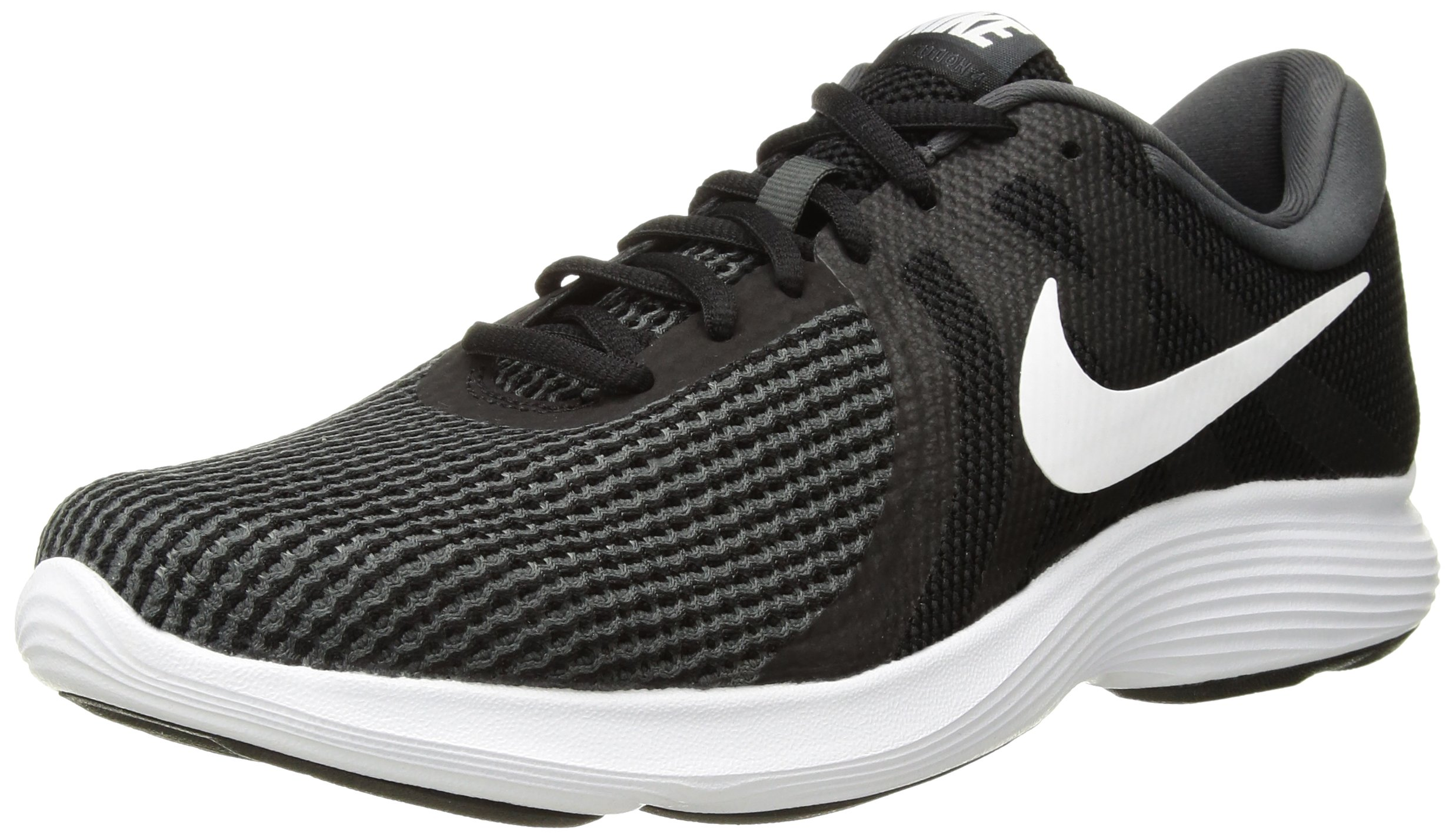 NIKE Women's Revolution 4 Running Shoe, Black/White-Anthracite, 5 Regular US