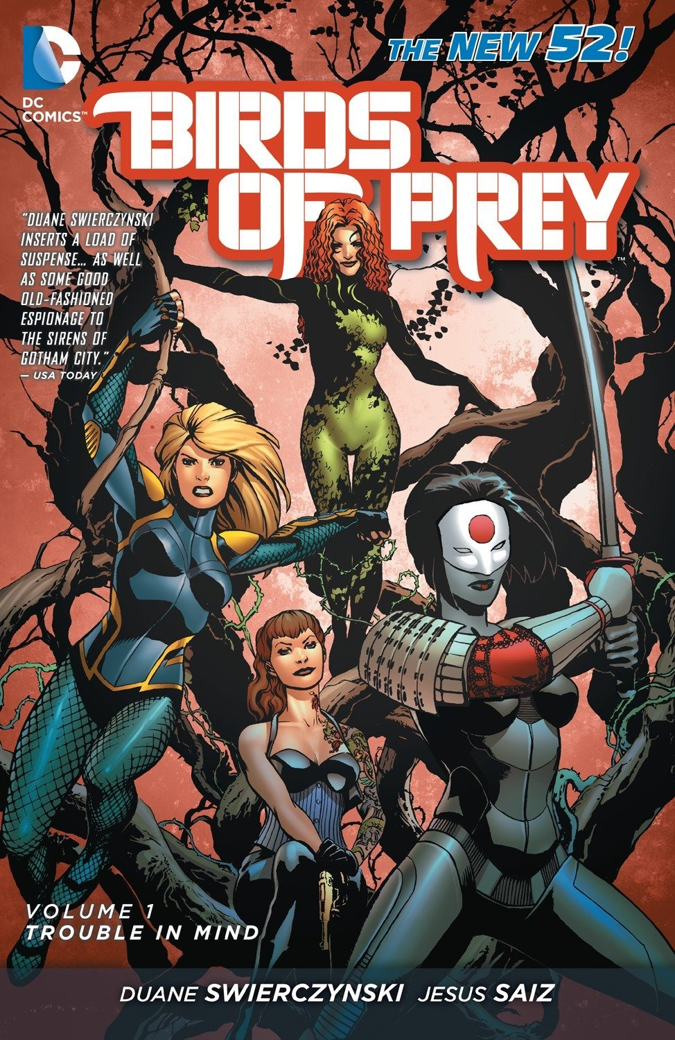Birds Of Prey Vol 1 Trouble In Mind The New 52 Swierczynski Duane Various 8601400568637 Amazon Com Books