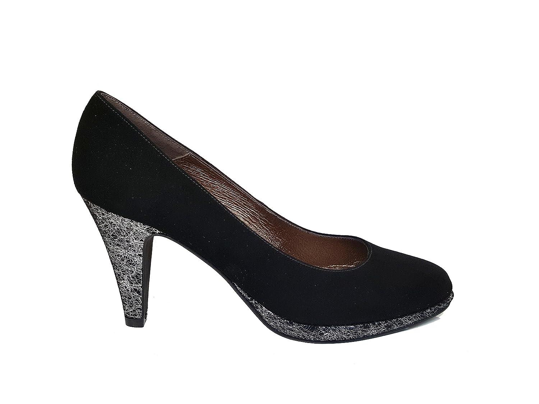 GENNIA VENCA-P Women Closed Toe Leather Pumps Stiletto Heel 8 cm and Platform 1 cm
