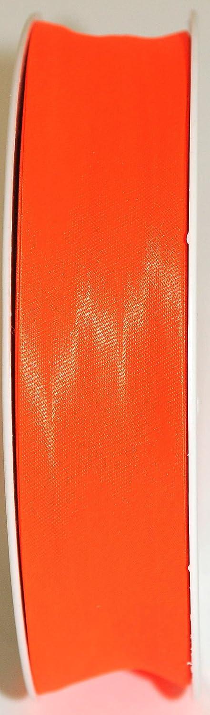 Inastri 25//5//5 mm Polyester-Satin Schr/ägband orange fluoreszierend 7114