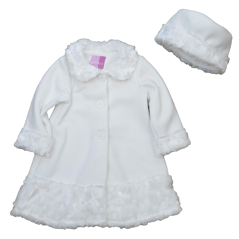 Goodlad Baby Baby Girls'' Fake Fur Trimmed Fleece Coat With Hat 16230XF2-41