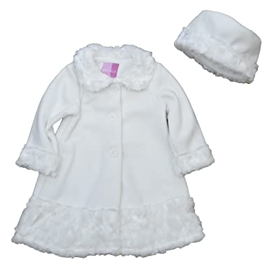 0bb56273e Amazon.com  Good Lad Infant Girls Fleece Coat with Fur Trim Around ...