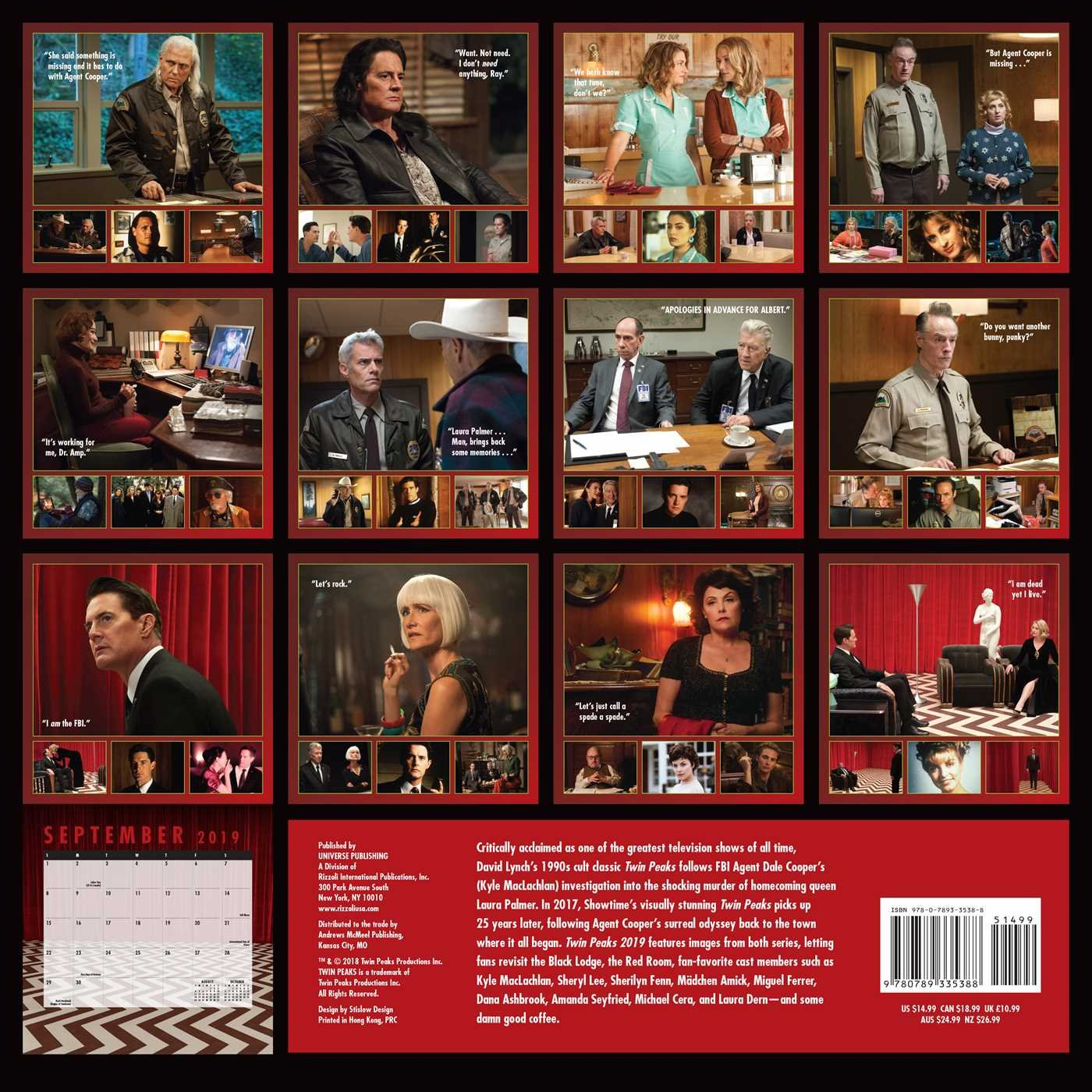 2019 Twin Peaks Calendar Twin Peaks 2019 Wall Calendar: Showtime: 9780789335388: Amazon.