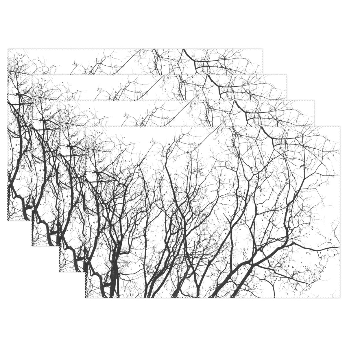 Placemats Tree 12x18 inch 1 Piece Non Slip Heat Resistant for Dinning Table