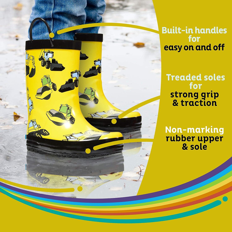 Little Kids /& Toddler ZOOGS Childrens Rubber Rain Boots Boys /& Girls Patterns