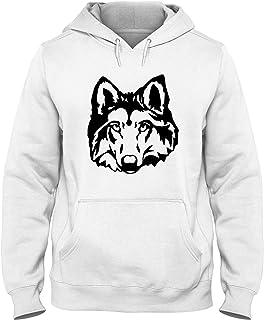 Speed Shirt Felpa Cappuccio Uomo Bianca FUN0333 115d Wolf Head Sticker 26165