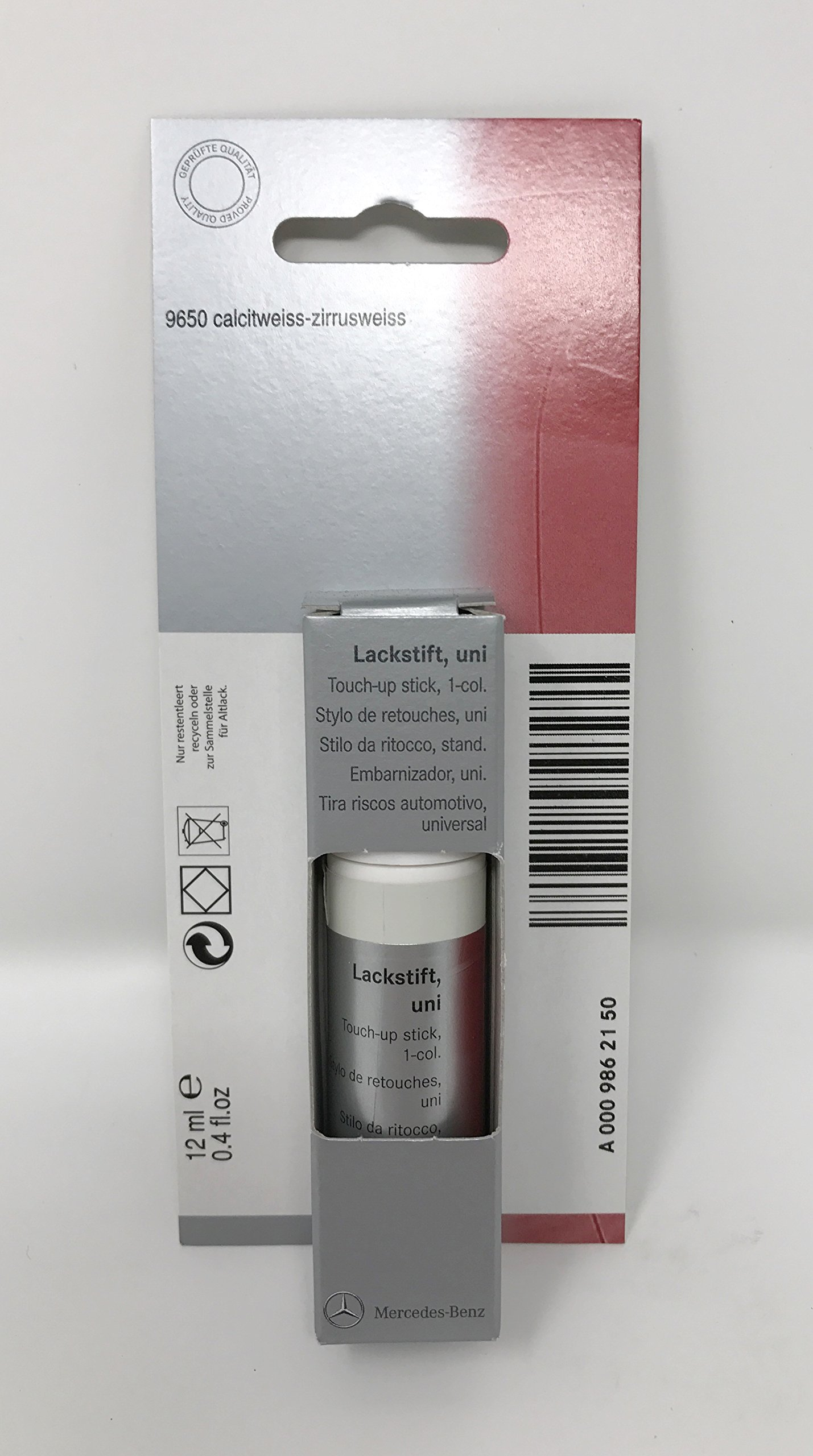 Mercedes Benz Genuine Calcite White/Cirrus White Touch Up Paint Code 650