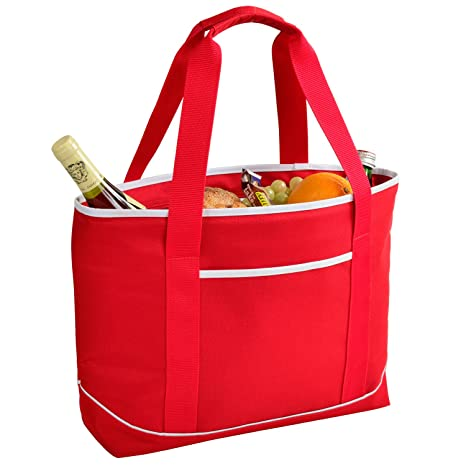 418ac28db265 Image Unavailable. Image not available for. Color  Picnic at Ascot Large  Insulated Cooler Bag - 24 Can Tote ...