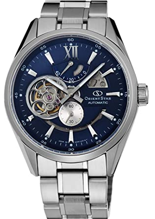 c36d577b2c9 Image Unavailable. Image not available for. Color  ORIENT Watch Orient Star  modern skeleton Automatic Navy WZ0191DK Men