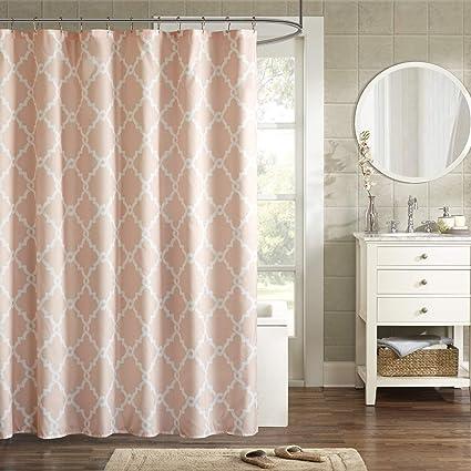 Amazon Madison Park Merritt Shower Curtain Blush 72x72 Home