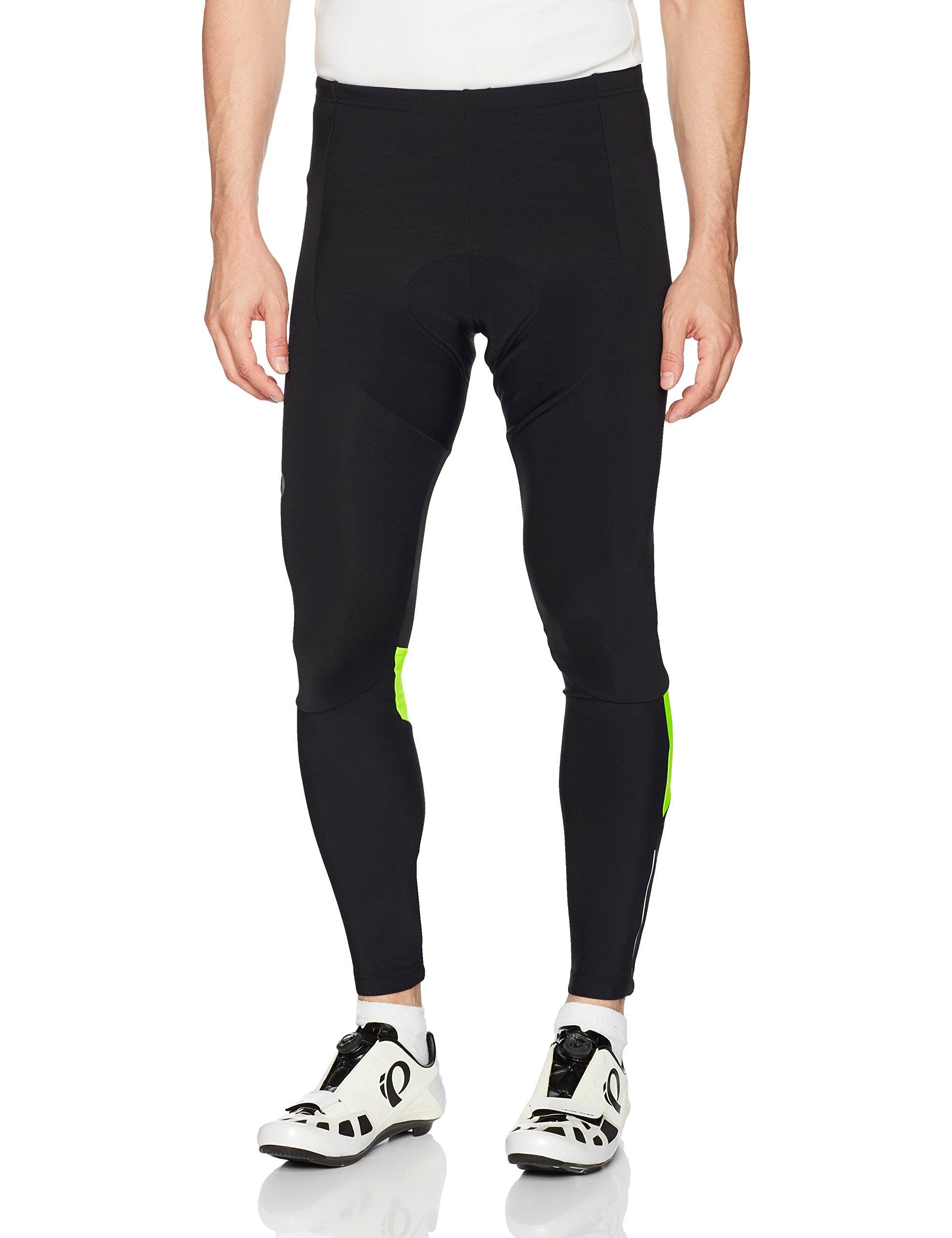 Pearl iZUMi Pursuit Thermal Cycling Tights, Black/Screaming Yellow, Small