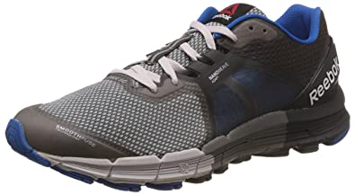 Reebok Men's One Guide 3.0 Grey, Black and Blue Sport Running Shoes - 12 UK