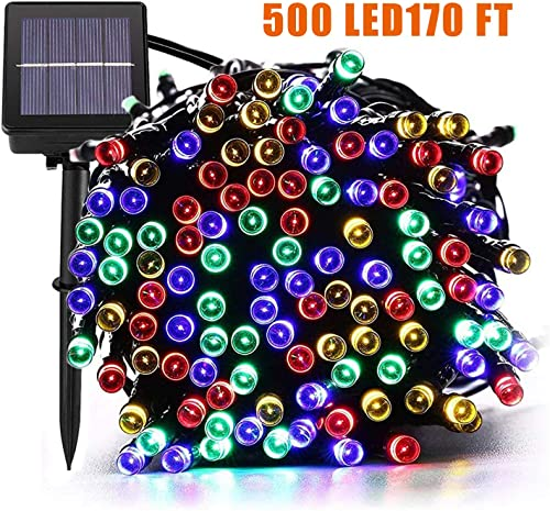 SUPSOO Solar String Lights 500 LED170ft Chirstmas Lights with 8 Modes Fairy String Lights for Outdoor, Bedroom, Wedding, Chirstmas Tree, Festival Party, Garden, Patio Decor