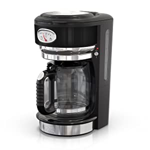 Russell Hobbs CM3100BKR Retro Style Coffeemaker 8-Cup Black