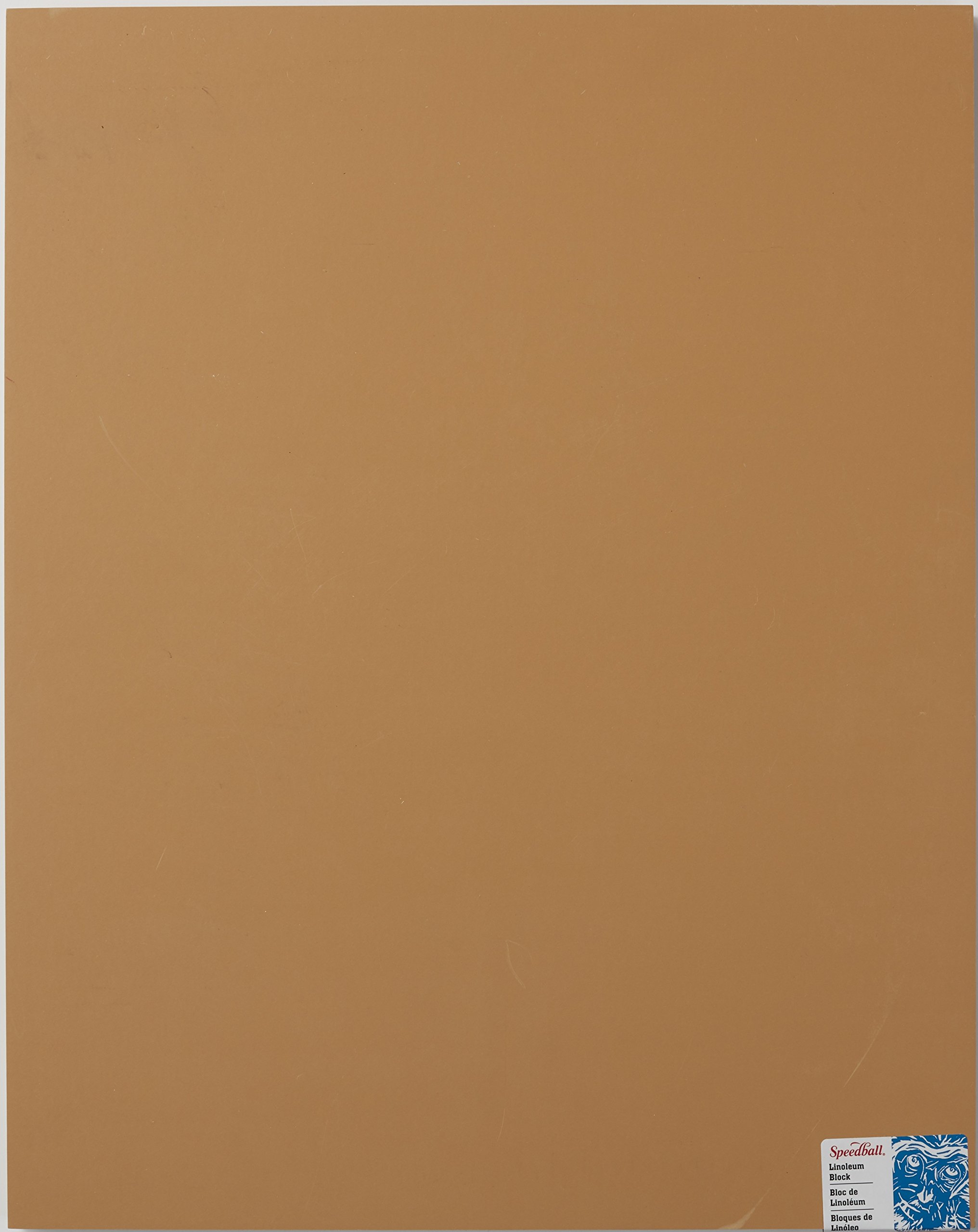 Speedball 4318 Premium Mounted Linoleum Block - Fine, Flat Surface for Easy Carving, Smoky Tan, 19 x 24 Inches by Speedball
