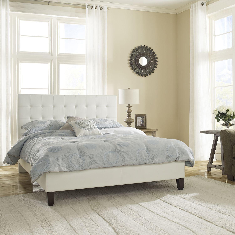 Stupendous Amazon Com Classic Dream Queen Platform Bed White Bralicious Painted Fabric Chair Ideas Braliciousco